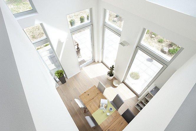 EFH Haus 4 Innenansicht Wohnzimmer von oben